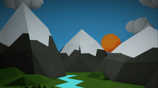 video-mountains-animation